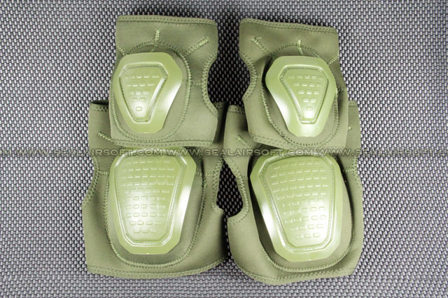 Special Force Airsoft Paintball Knee & Elbow Pad Set (Olive Drab) KP-005-OD