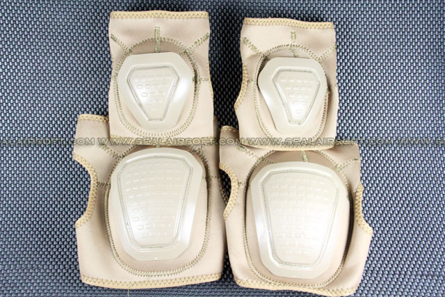Special Force Airsoft Paintball Knee & Elbow Pad Set (Tan) KP-005-TN