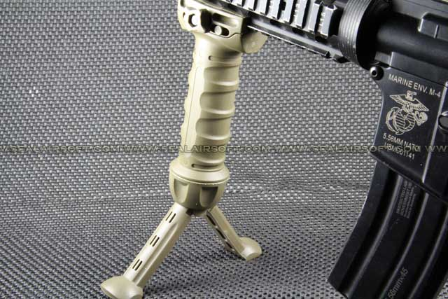SE Gear Tactical Spring Bipod Grip for RIS Rail (Dark Earth) BIPOD-013-DE